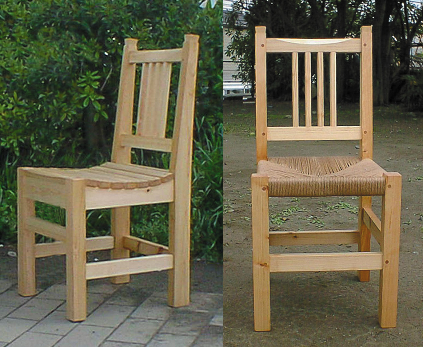 定番の椅子(板座・編座)【01-9005】