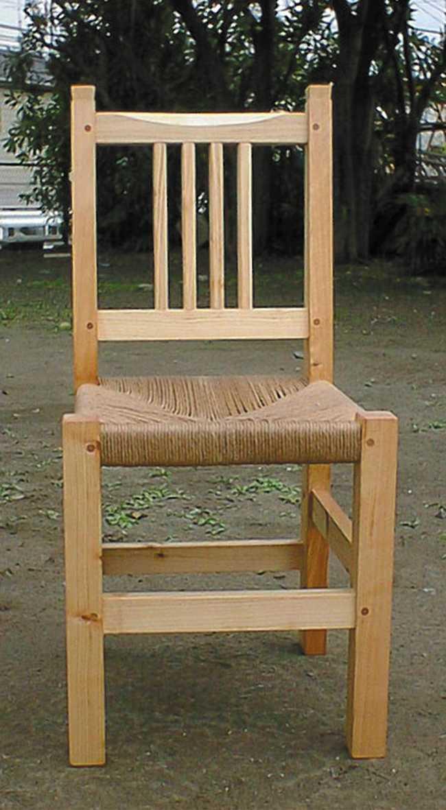 定番の椅子(板座・編座) 20,000円(ヒノキ)